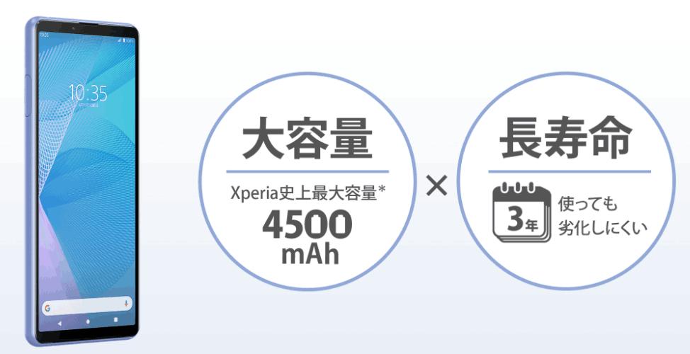 Xperia10Ⅲの充実したバッテリー性能